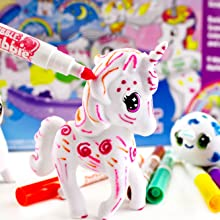 unicorn, unicorn toy, crayola, markers