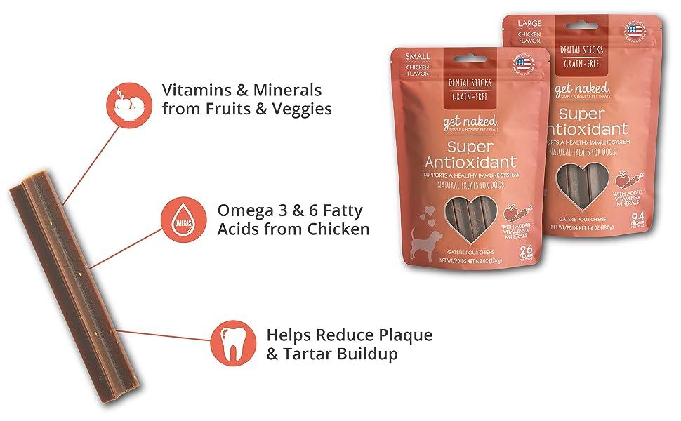 Get Naked Get Naked Super Antioxidant Dental Chews Made in