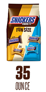 Enjoy a variety mix of your favorite mini size Snickers Candy Bars.