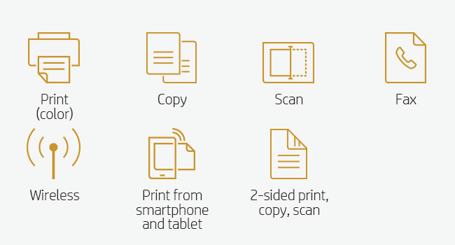 print scan copy fax wireless Wi-Fi mobile device smartphone tablet scanning copying