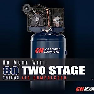 80 gallon 2 stage air compressor, 89 gallon air compressor, 80 gallon compressor, campbell hausfeld