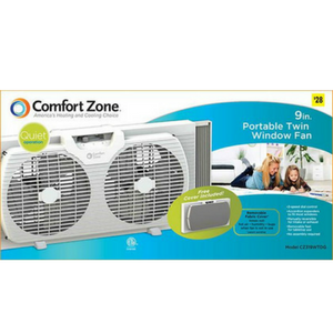 Amazon Com Comfort Zone 9 Quot Portable Twin Window Fan