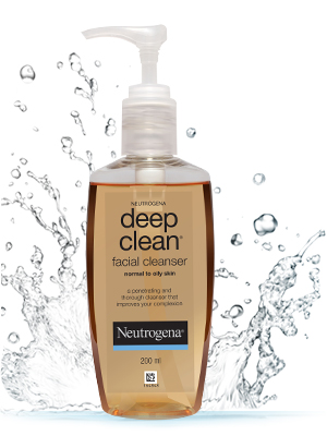 cleanser, cleanser for face, deep clean facial cleanser, Neutrogena, Neutrogena deep clean