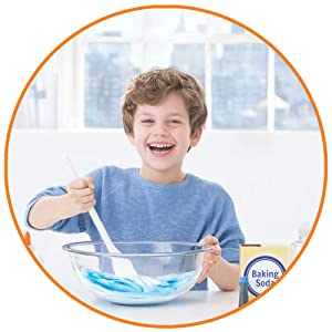 Child playing with slime
