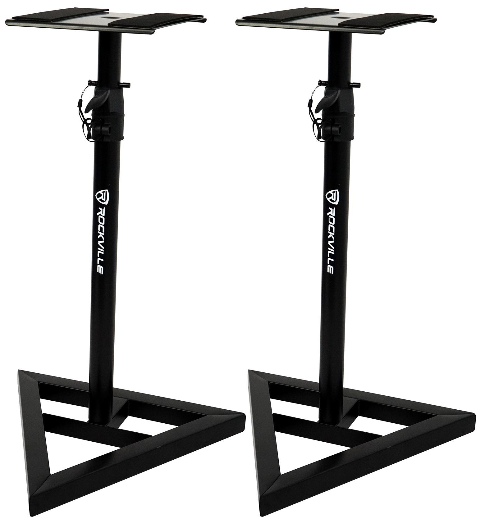 rockville rvsm1 pair of near field studio monitor stands w adjustable height. Black Bedroom Furniture Sets. Home Design Ideas