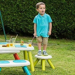 smoby kid mobilier table chaise tabouret banc enfant bébé plastique meuble