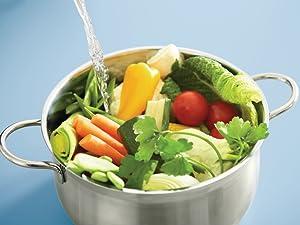 Comida saludable filtro agua