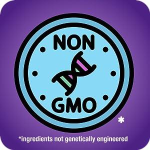 non-GMO ingredients not genetically engineered