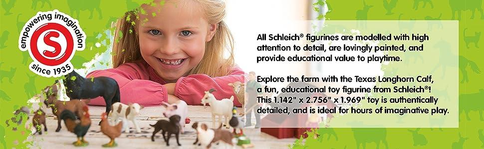 Schleich Farm Life 13684 Texas Long Horn Calf