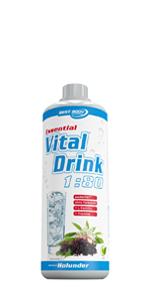 Best Body Nutrition Essential Vital Drink Holunder