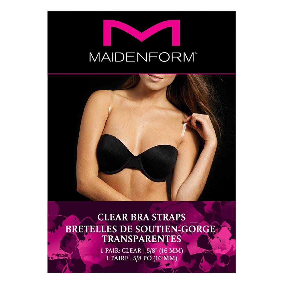 Clear Maidenform Womens Silicone Bra Strap Pad One Size