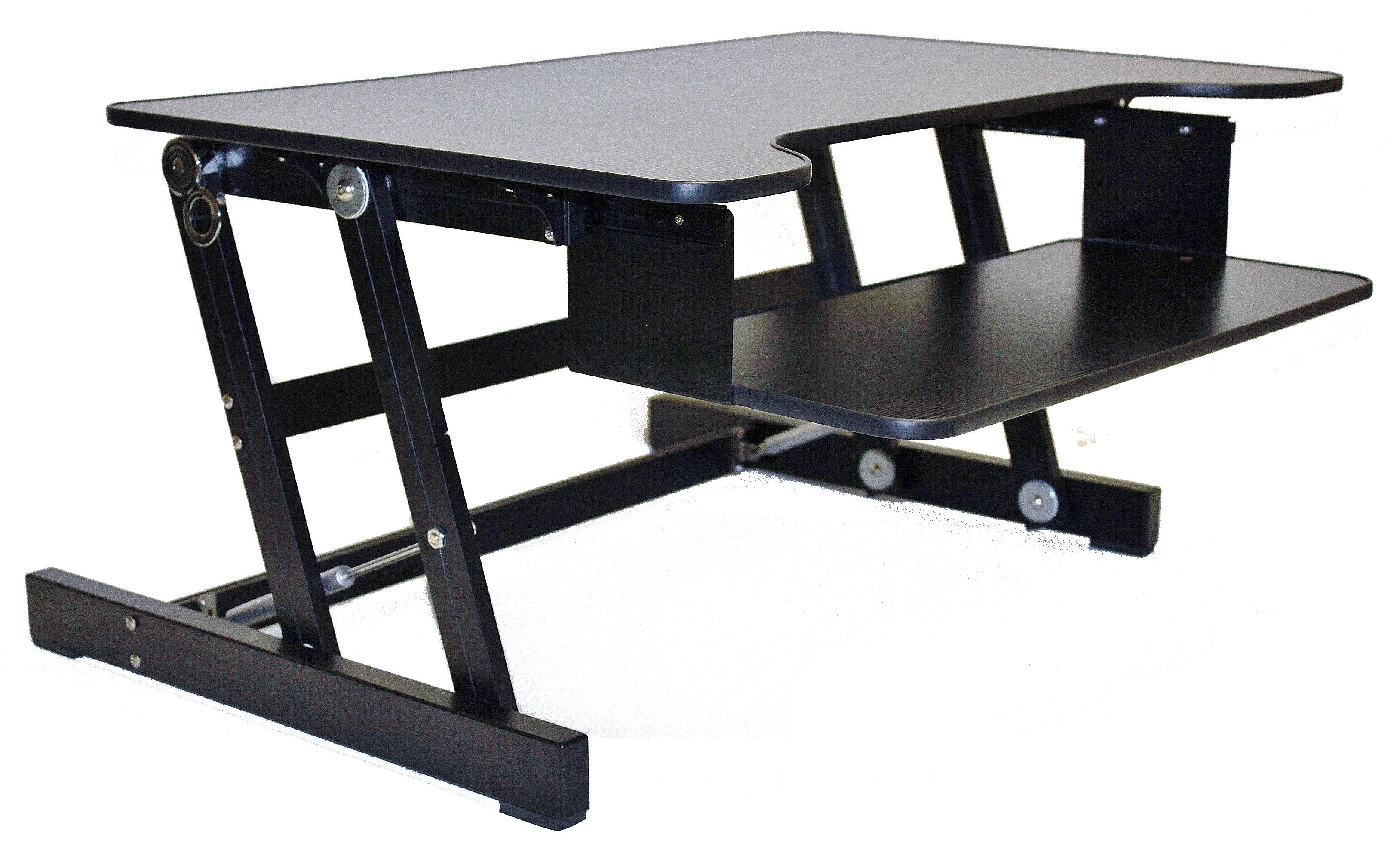 sit stand products select desk and sauder