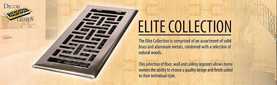 Decor Grates ST612W 6-Inch by 12-Inch Painted Wall Register, Black ...
