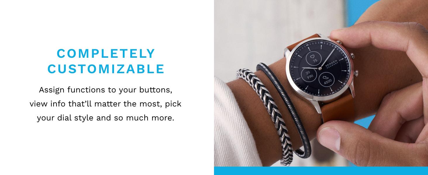 Jorn Skagen Hybrid Heartrate Smartwatch customizable faces