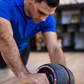 Rueda abdominales fitness AB Carver Pro rodillos for ejercicio abdominal Core Equipo de entrenamiento for el entrenamiento del ABS Ajuste su n/úcleo brazos hacia atr/ás hombros entrenamiento de la fuerz