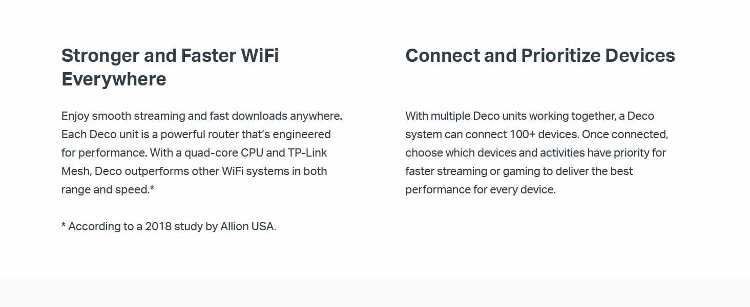 faster wifi, deco, orbi