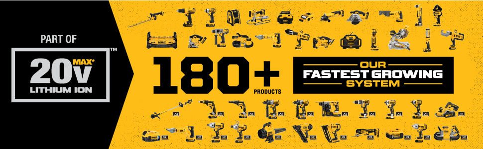 dewalt 20v systems, 180 tools dewalt, 20v lithium ion tools