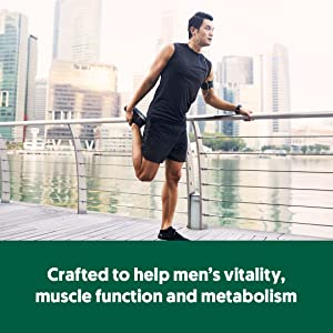 Crafted to help men's vitality, muscle function and metabolism