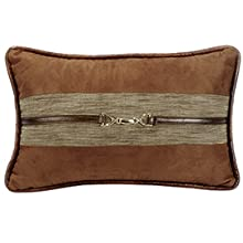 Highland Lodge Suede Lumbar Pillow with Buckle Detail
