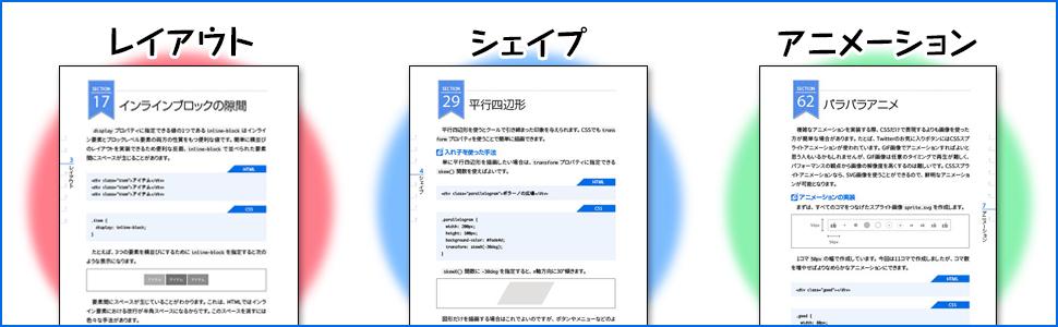 レイアウト シェイプ アニメーション インラインブロック パラパラアニメ