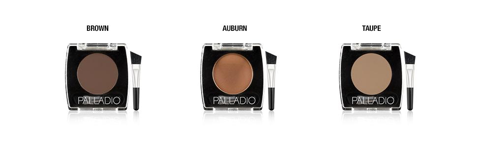 palladio brow eye colors shades options long lasting longlasting all day wear