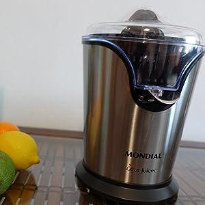 Mondial Citrus Juicer Exprimidor Eléctrico, 240 W, Acero ...
