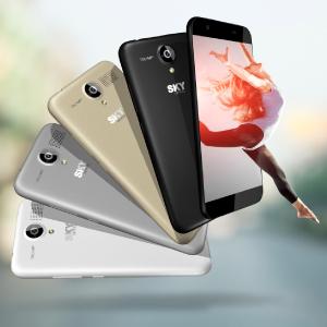Sky Devices Platinum 5.0+ Smartphone Quad Core 1.3 GHz, Pantalla ...