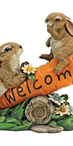 bunny bunch welcome sign, welcome, sign, bunny, rabbit, home decor