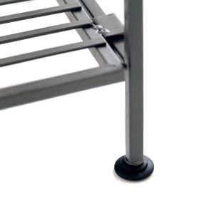 sevilleclassics steel iron slat shoe storage shelving rack organizer tower shelf 3 tier rack storage