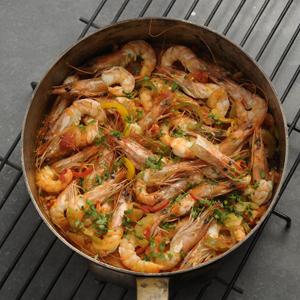 greece, greece cuisine, greece the cookbook, phaidon, shrimp casserole, prawn casserole, tomatoes