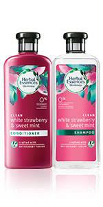 herbal essences White Strawberry and Sweet Mint shampoo conditioner collection
