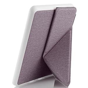 Capa Novo Kindle 10a. Geração WB Origami Estilo Tecido Preta costas