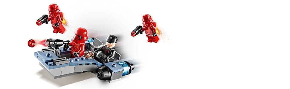 LEGO Star Wars Battle Pack Sith Troopers Set di Costruzioni con 4 Minifigure LEGO Star Wars Ufficiale del Primo Ordine: 2 Jet Trooper Dotati di 4 Blaster Shooter e 2 Elementi Jetpack, +6 Anni, 75266