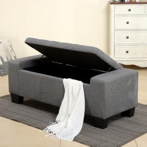 Amazon Com Belleze 51 Quot Inch Storage Ottoman Bench Faux