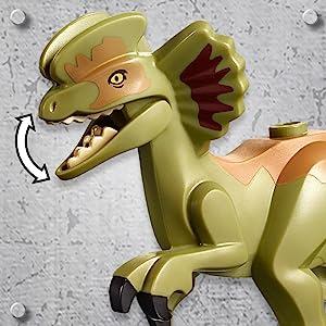 LEGO Jurassic World Dilophosaurus on the Loose