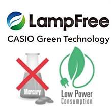 Casio Green technology energy efficient mercury free LED hybrid projector laser lamp light source