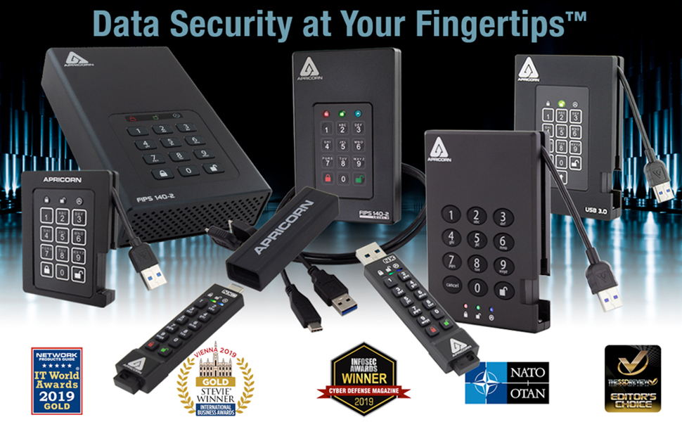 Software-Free, 256-Bit AES Hardware-Encrypted USB Trusted Worldwide for Protecting Sensitive Data.