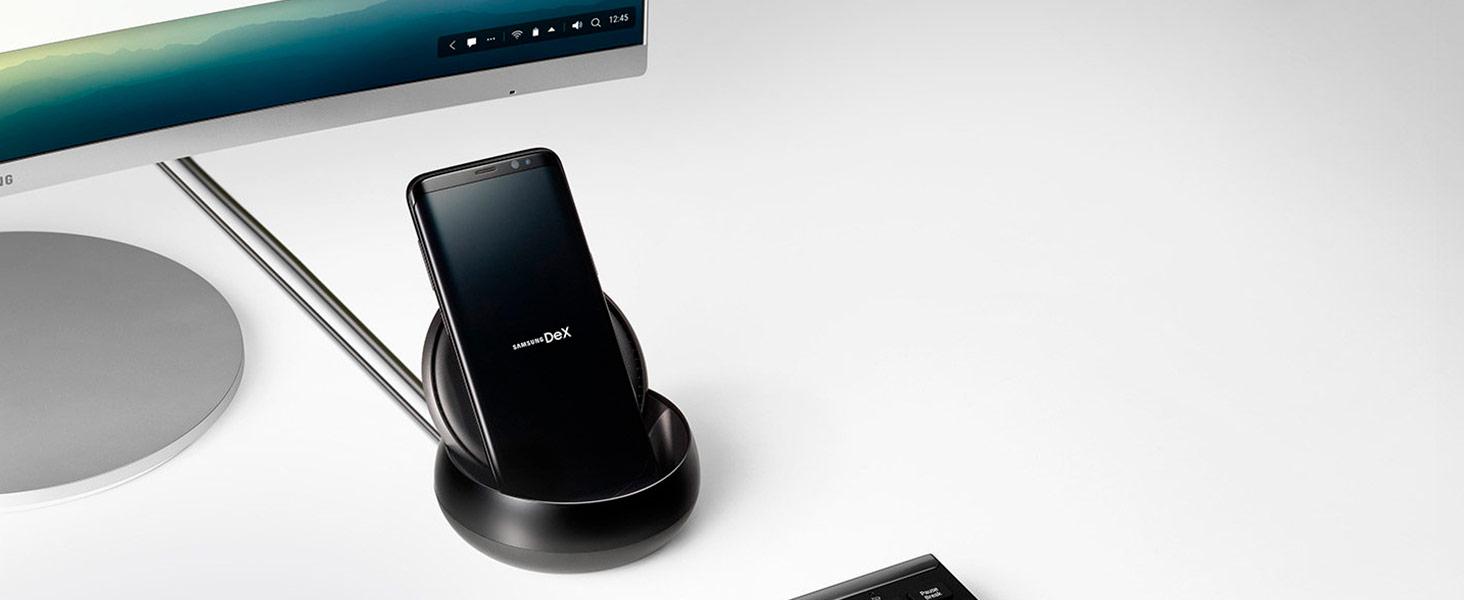 Samsung DeX Station - CPU y cargador para Samsung S8 y S8 Plus (conectores HDMI, USB y Lan), color negro [Incluye accesorios de carga]- Version ...