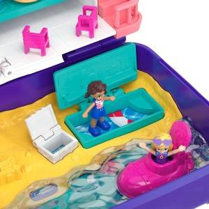 Polly Pocket Hidden Places Beach Vibes Backpack with Beach Theme, Dolls & Accessories