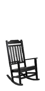 All-Weather Rocking Chair in Black