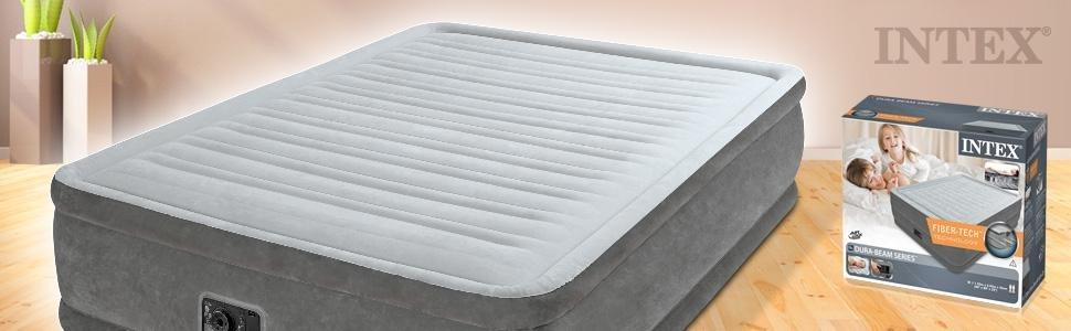 airbed comfort plush elevated, materasso gonfiabile, materassino gonfiabile, intex