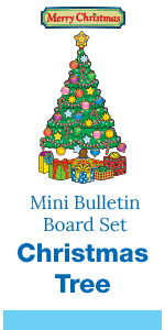 mini christmas bulletin board set