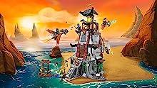 Multi-story lighthouse and sky pirates' jet
