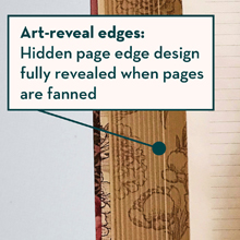 fore-edge painting, fore edge painting, page edge design, printed page edges