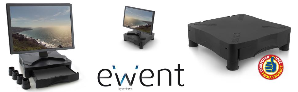 Ewent EW1280 - Soporte para Monitor con elvación Regulable y cajón ...