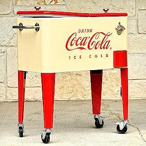 coca cola cooler retro deck party patio