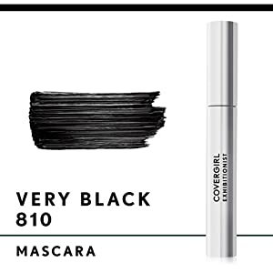 Swatch of Covergirl Exhibitionist Mascara, Very Black 810