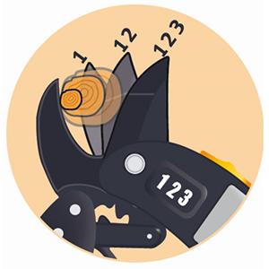 Fiskars Tijeras de podar con yunque para madera seca, Ø de corte: 2, 4 cm, Longitud: 19 cm, Negro/Naranja, 1000575: Amazon.es: Jardín