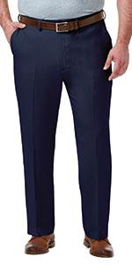 Haggar Dress Pants, big and tall fit, big & tall mens pants, Haggar big and tall, big & tall slacks