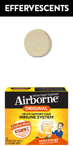 Airborne immune support effervescent tablets antioxidants vitamins A C E Zinc Selenium Gluten free